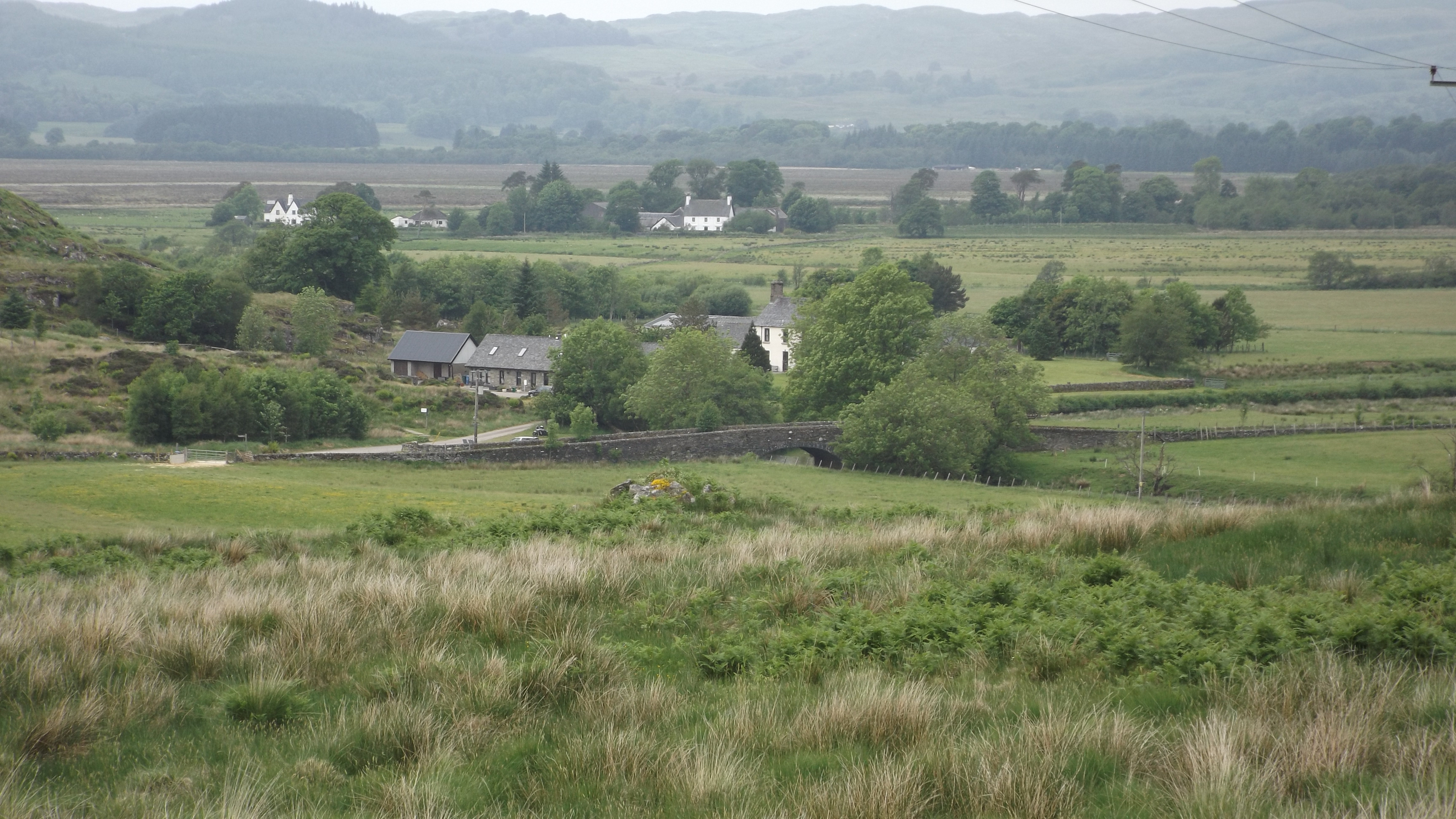 Landscape photo showing Dunadd, the host farm for the Argyll Soil & Nutrient Network